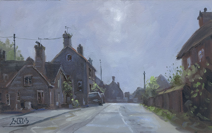 Fontmell Magna, Dorset, plein air, oil painting