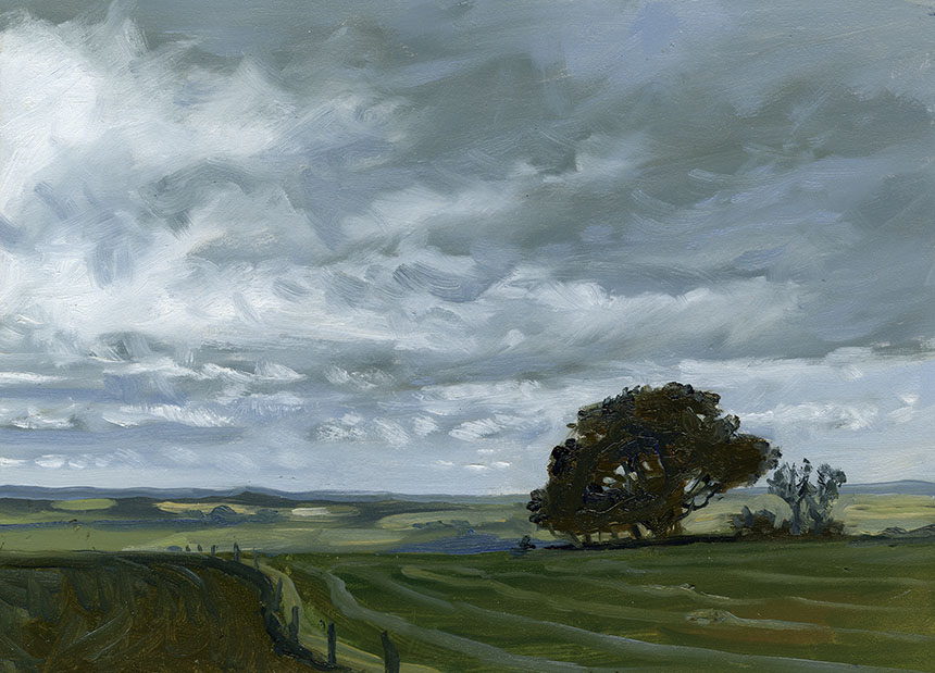 Fontmell Down, Dorset, plein air, oil painting
