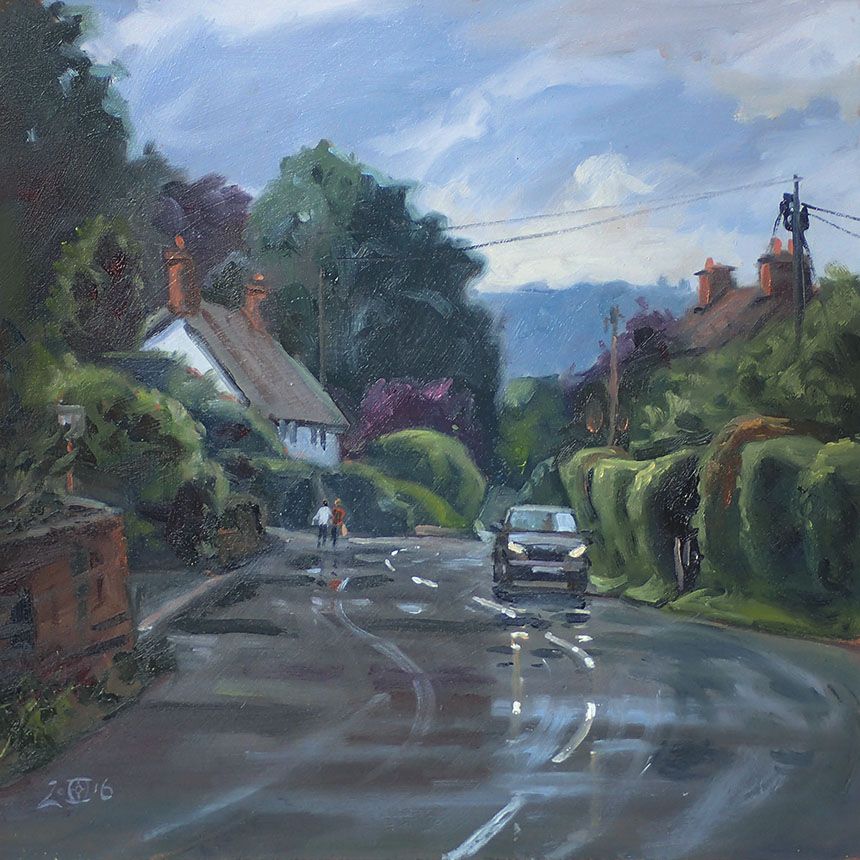 Child Okeford, Dorset, Plein air, Oil Painting
