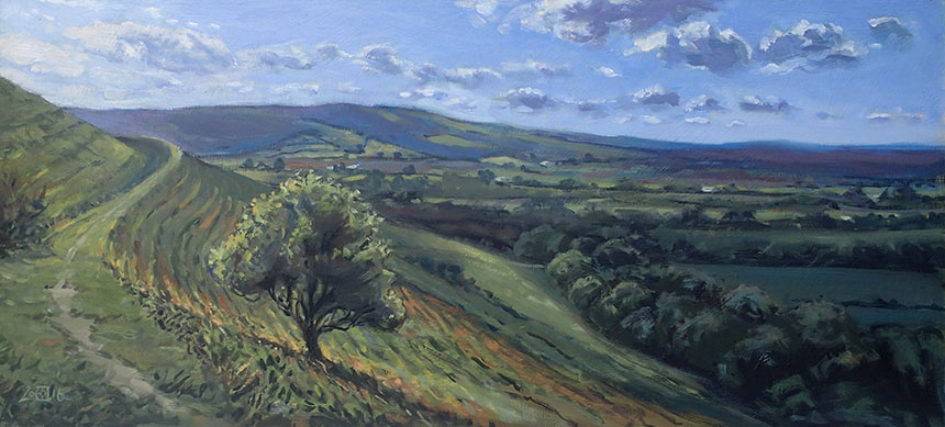 Hambledon Hill, Dorset, oil painting