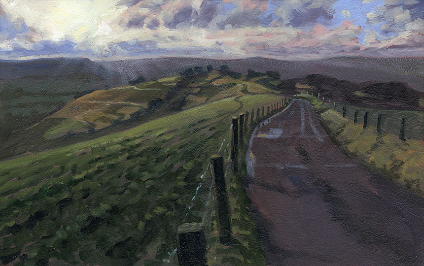 Rawlsbury Camp, Dorset, plein air, oil painting, landscape