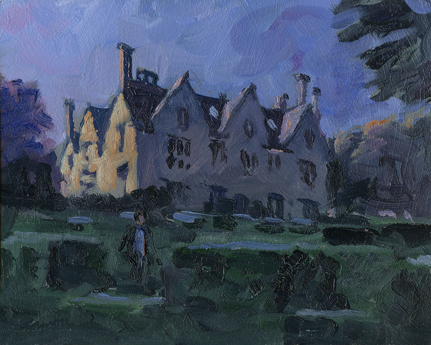 Hanford House, Oil painting, Plein air.