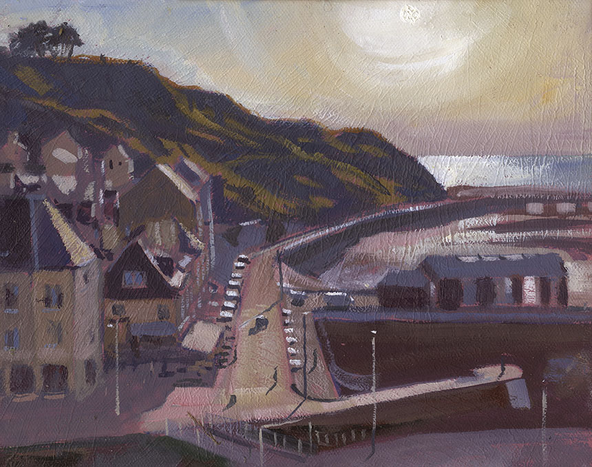 Port en Bessin, oil painting, plein air