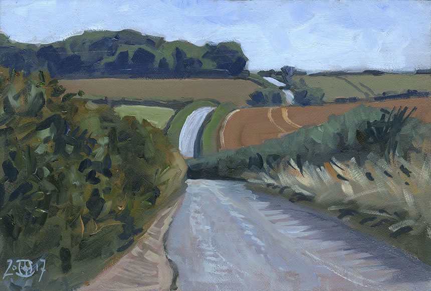 Dorset, landscape, oil painting, plein air