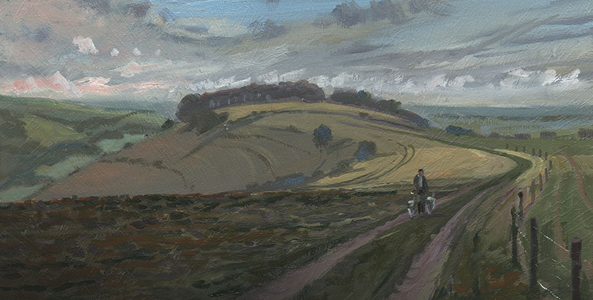 Fontmel Down, Dorset, Plein air, oil painting