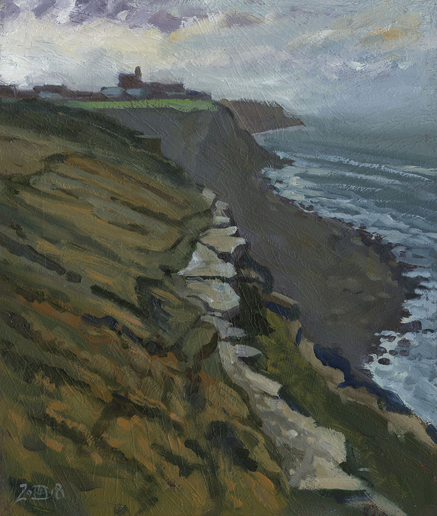 Portland, Dorset, plein air, oil painting
