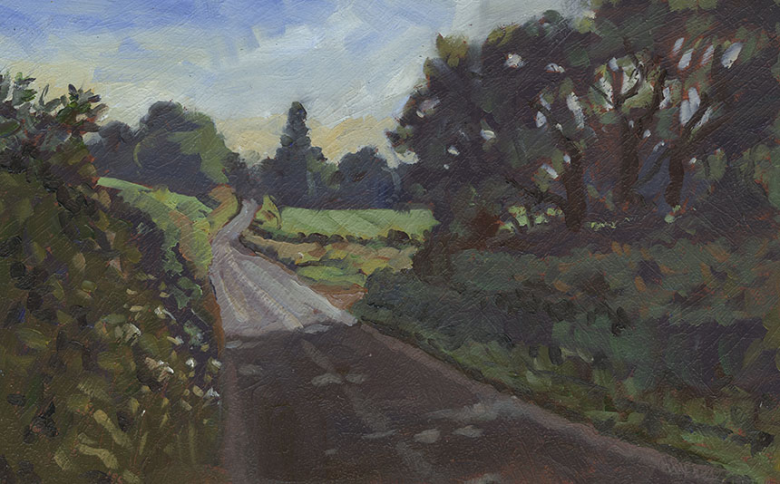 Dorset, plein air, Plush, oil painting