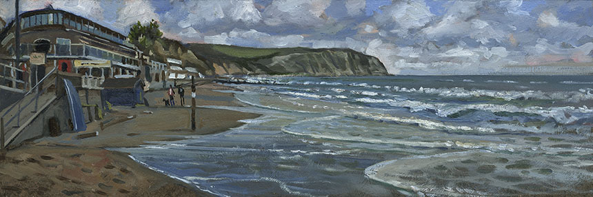 Swanage, Dorset, plein air, oil painting
