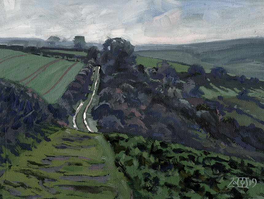 Dorset, sutton Waldron, plein air, oil painting