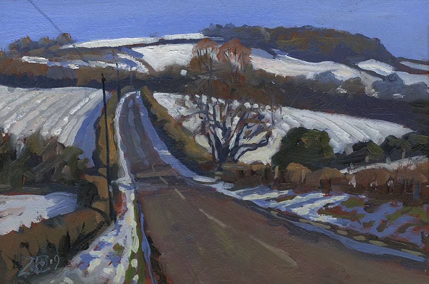 Rawlesbury, Dorset, Bulbarrow, plein air, oil painting