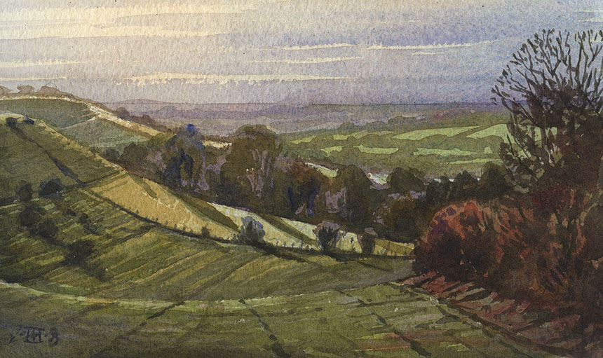 Dorset, watercolour, painting, plein air